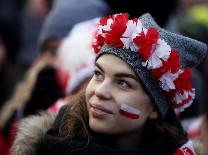Kibicka podczas zawodów Pucharu Świata w Wiśle /Andrzej Grygiel /PAP