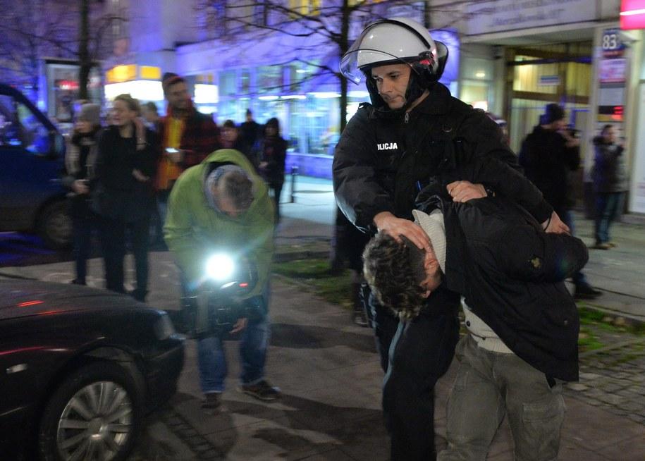 Kibiców Lazio zatrzymano przed meczem z Legią /Radek Pietruszka /PAP