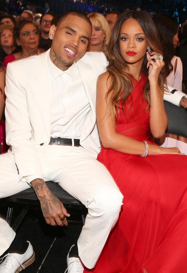 Kiedyś Rihanna i Chris Brown byli nierozłączni! /Christopher Polk /Getty Images