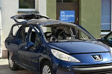 Kielce: Przed punktem szczepień wybuchł samochód