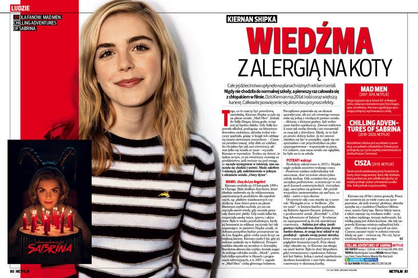 Kiernan Shipka w nowym numerze NETFILM /Bauer /materiały prasowe