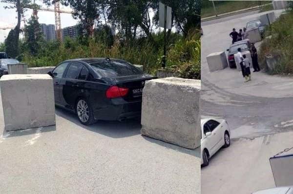 Kierowca BMW musiał uznać rację budowlańców... /