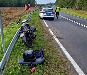 Kierowca bmw najechał na kierującego motorowerem. Tłumaczył to zaszronioną szybą