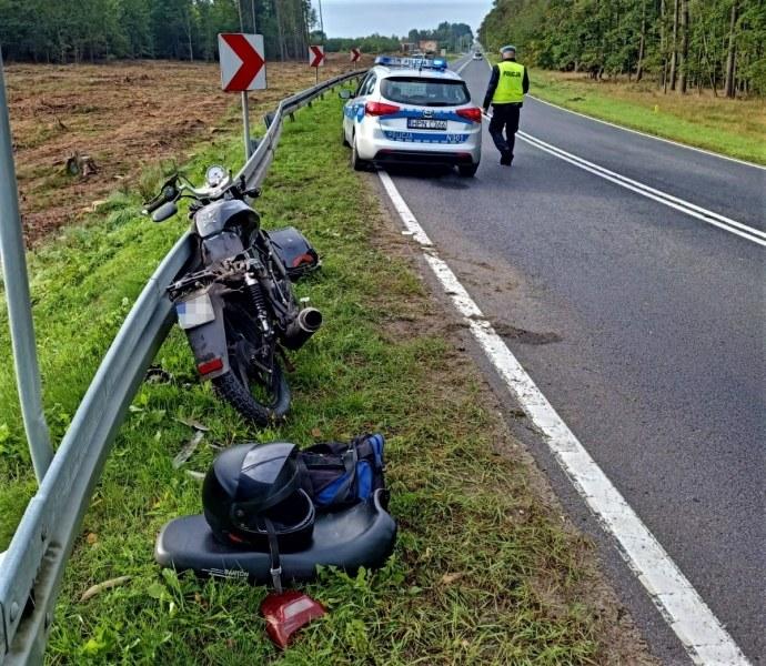 Kierowca bmw najechał na motorowerzystę /POMORSKA POLICJA /materiały prasowe