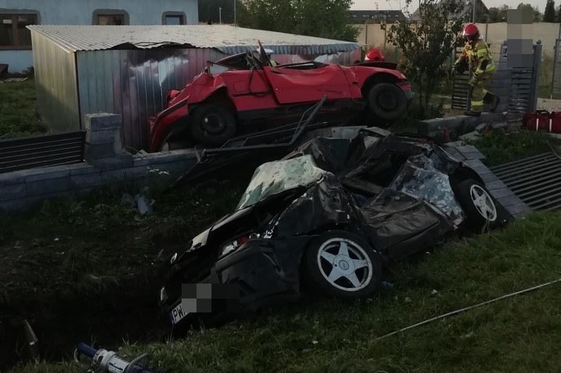 Kierowca bmw zginął na miejscu /KP PSP w Wągrowcu /