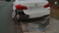 Kierowca BMW zignorował czerwone światło i doprowadził do kolizji