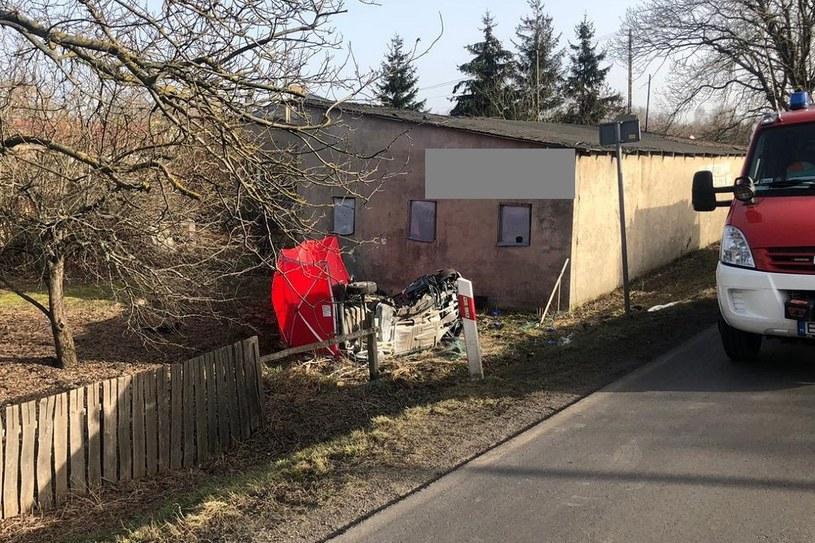 Kierowca i pasażerka Matiza zginęli /Policja