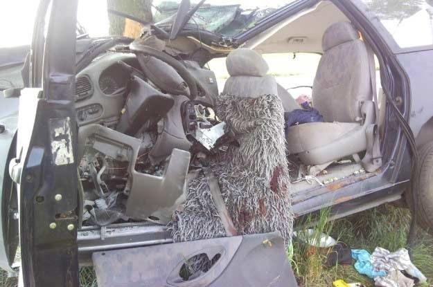 Kierowca najprawdopodobniej zasnął za kierownicą /