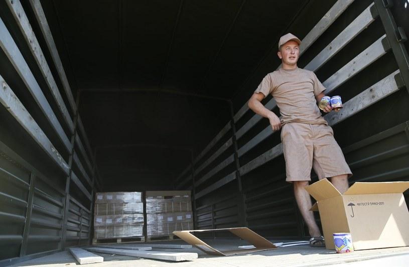 Kierowca rosyjskiej ciężarówki /AFP