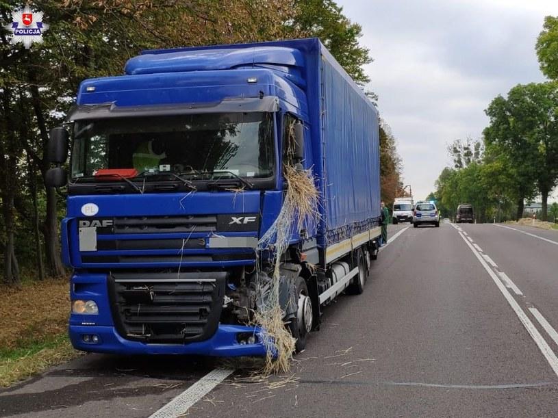 Kierowca tej ciężarówki trafił do szpitala /