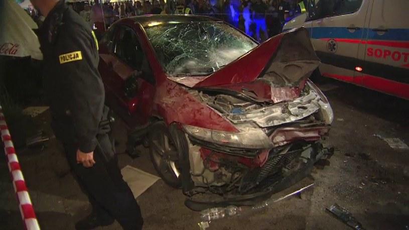 Kierowca wjechał w pieszych /TVN24/x-news