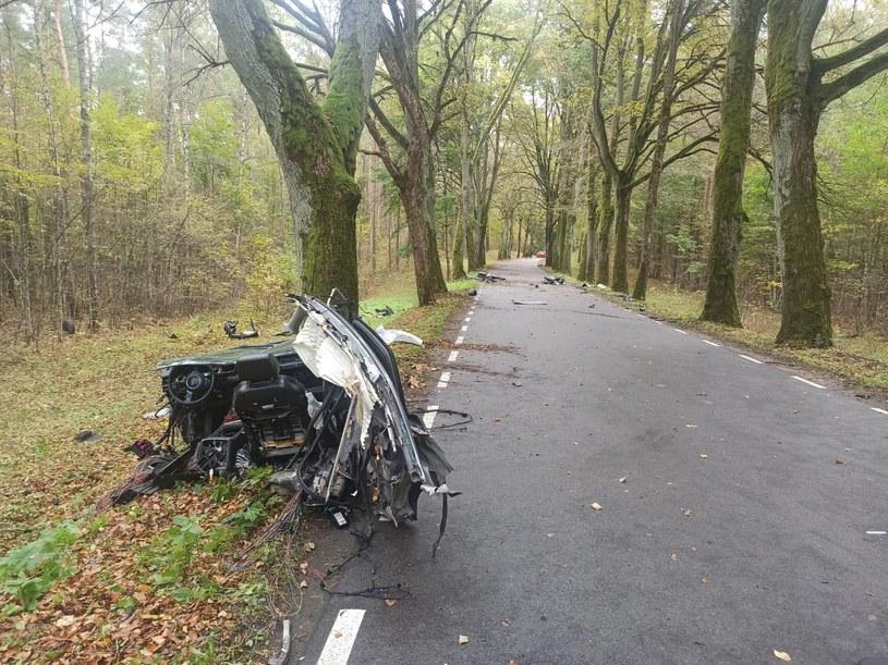 Kierowca zginął na miejscu (KMP Olsztyn) /Policja