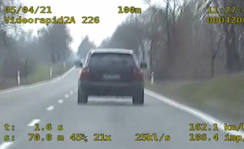 Kierowca został ukarany mandatem /Policja