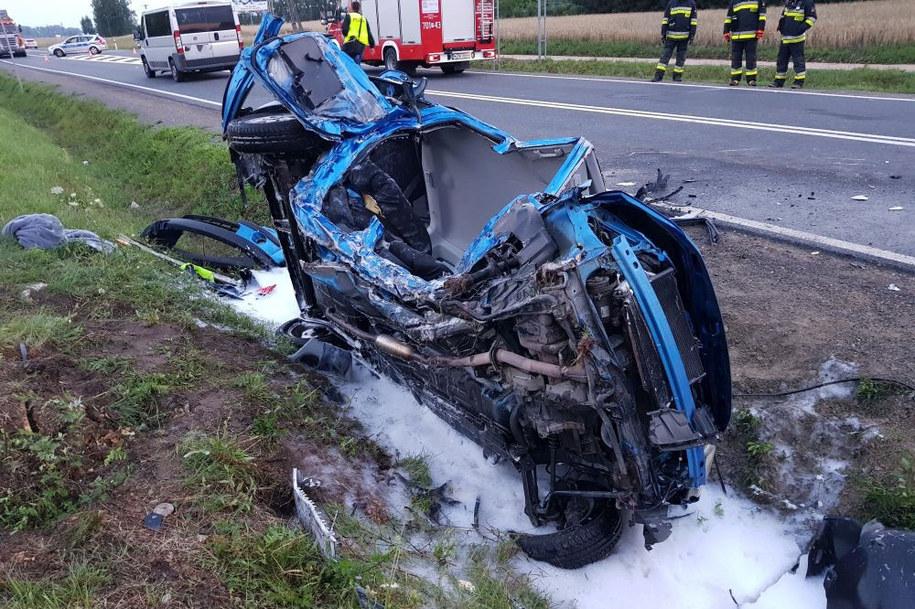 Kierowcę policjanci uratowali w ostatniej chwili. /Policja Mazowiecka  /Policja