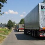 Kierowcy ciężarówek protestują. Jadą wolniej niż pozwalają przepisy
