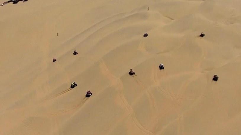 Kierowcy na trasie Rajdu Dakar /Eurosport