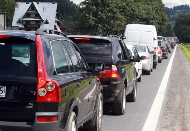 Kierowcy utknęli w korku /Grzegorz Momot /PAP