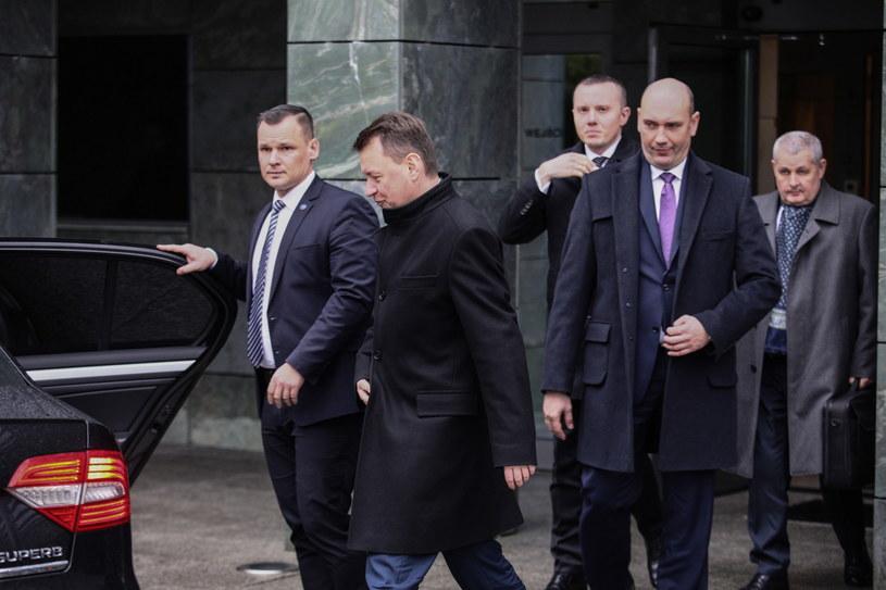 Kierownictwo MON po spotkaniu z prezydentem / Leszek Szymański    /PAP