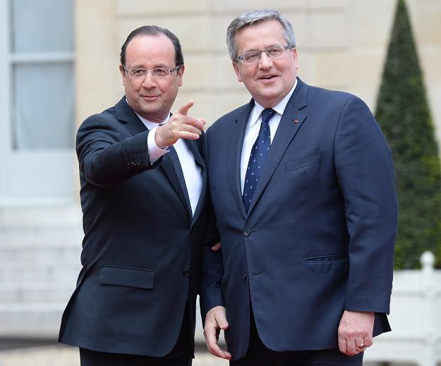 Kierunek wyznaczany przez Francoisa Hollande'a nie musi odpowiadać Bronisławowi Komorowskiemu (P) /PAP