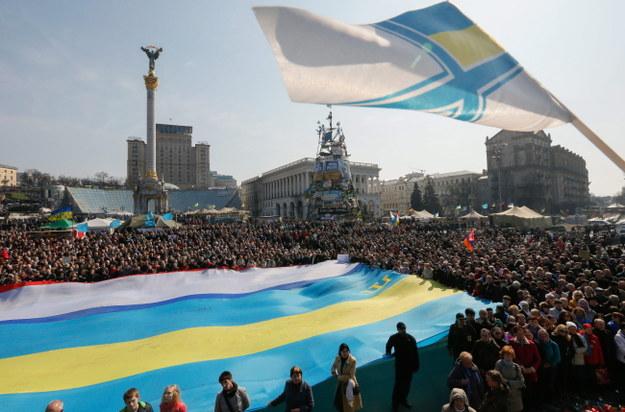 Kijowski Majdan /PAP/EPA/SERGEY DOLZHENKO /PAP/EPA