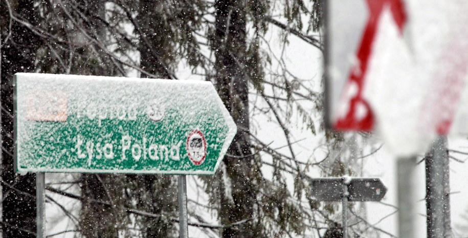 Kilka dni temu w Zakopanem spadł pierwszy śnieg /Grzegorz Momot /PAP