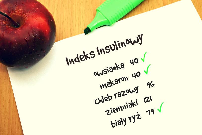 Kilka przykładowych wartości indeksu insulinowego /123RF/PICSEL