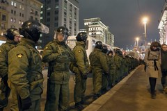 Kilkaset osób zatrzymanych w Moskwie