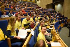 Kilkaset osób zmierzyło się z tekstem Krakowskiego Dyktanda