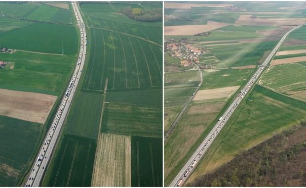 Kilkunastokilometrowe korki na A4 od granicy w kierunku Wrocławia