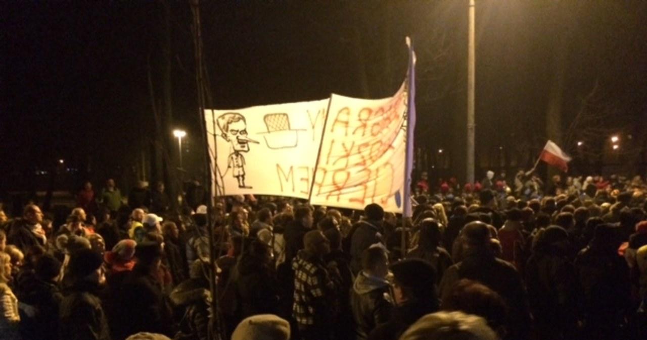 Kilkutysięczna górnicza demonstracja na ulicach Bytomia