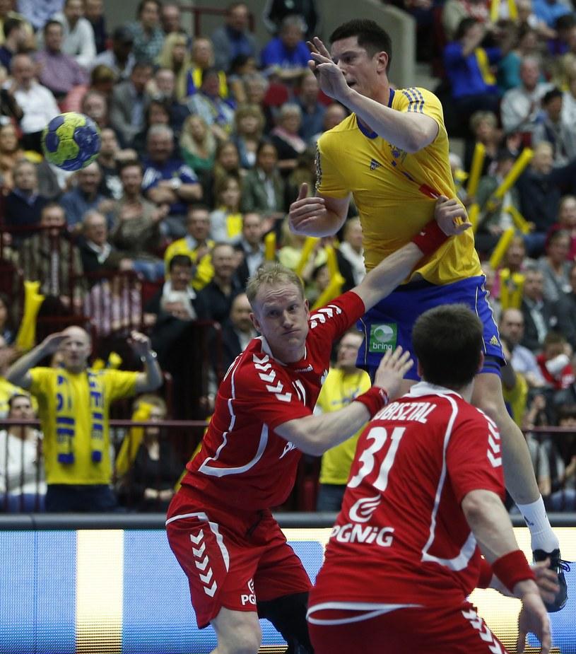 Kim Andersson w meczu z reprezentacją Polski /AFP