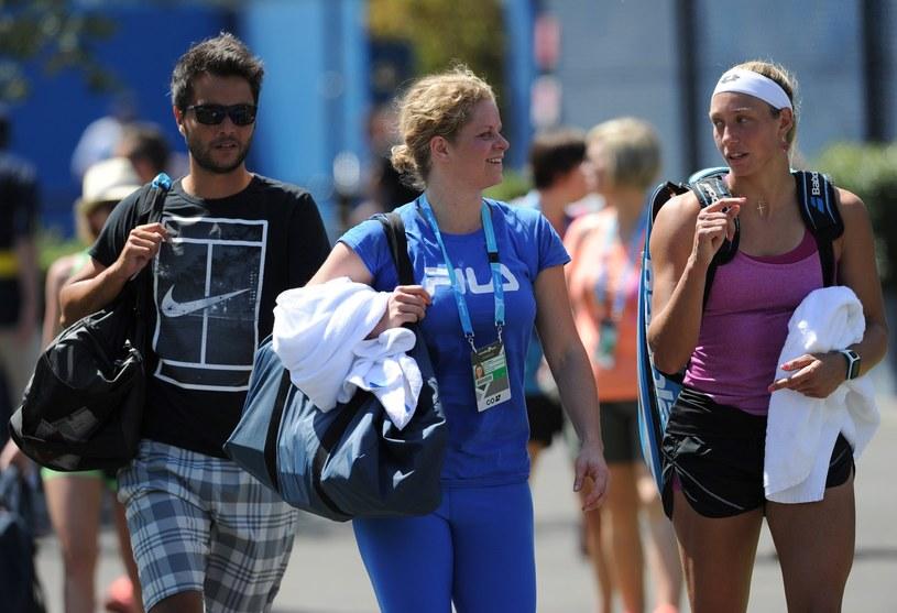 Kim Clijsters (w środku) /AFP
