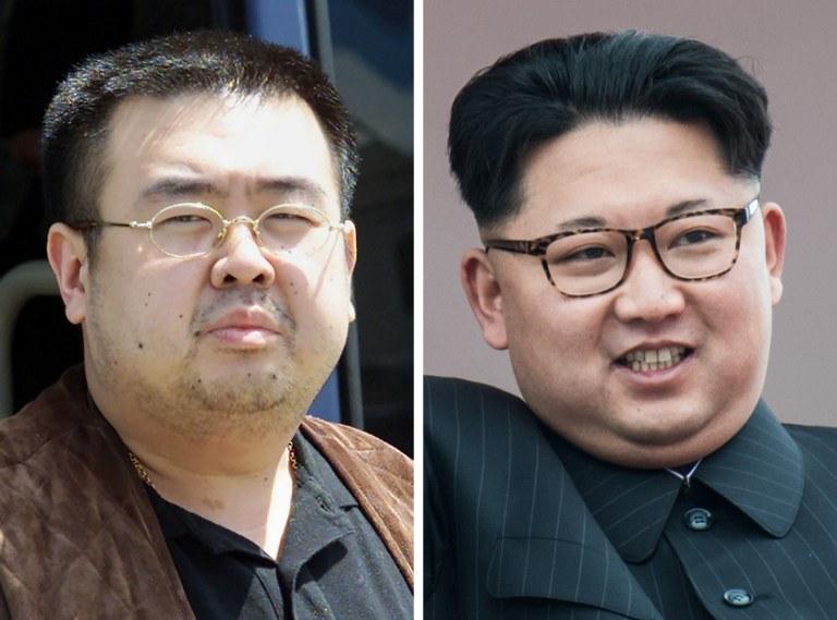 Kim Dzong Nam i Kim Dzong Un /AFP