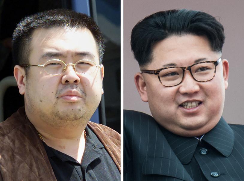 Kim Dzong Nam i przywódca północnokoreańskiego reżimu - Kim Dzong Un /Toshifumi KITAMURA, Ed JONES /AFP