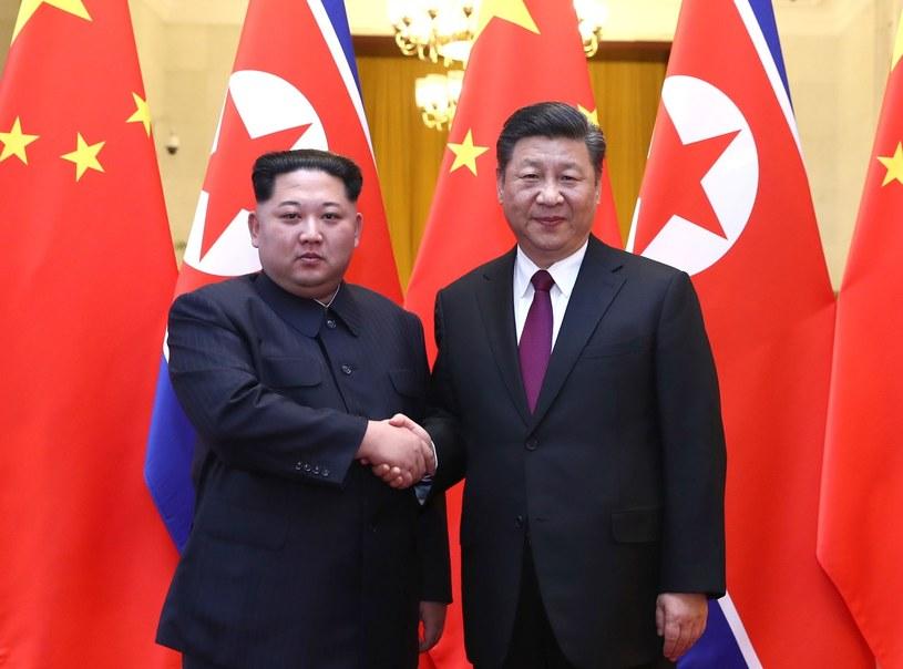 Kim Dzong Un i Xi Jinping /Ju Peng Xinhua / eyevine /East News