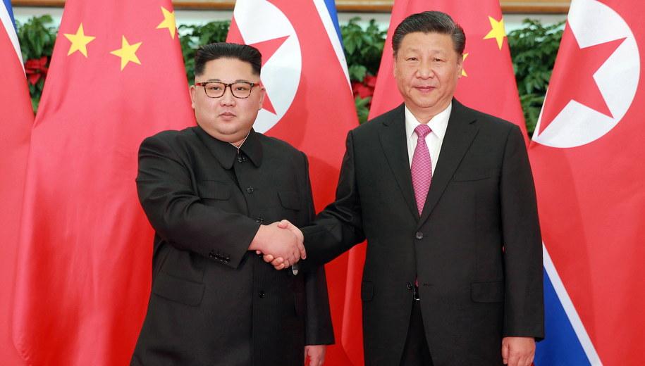Kim Dzong Un i Xi Jinping /KCNA /PAP/EPA