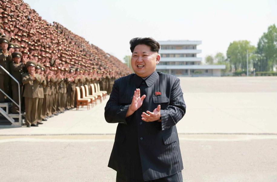 Kim Dzong Un, przywódca Korei Północnej /RODONG SINMUN  /PAP/EPA