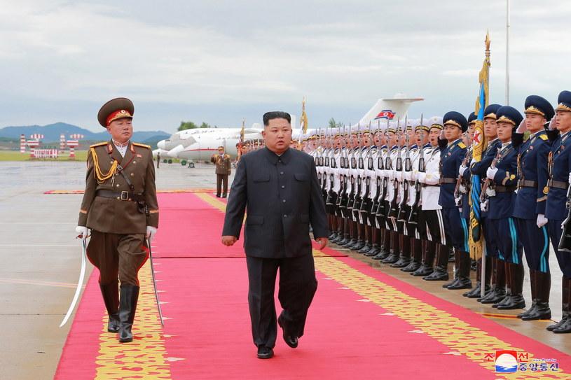 Kim Dzong Un w Singapurze /KCNA /PAP/EPA