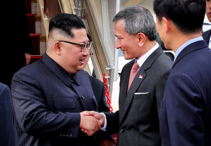 Kim Dzong Un wylądował w Singapurze /TERENCE TAN / MCI /PAP/EPA