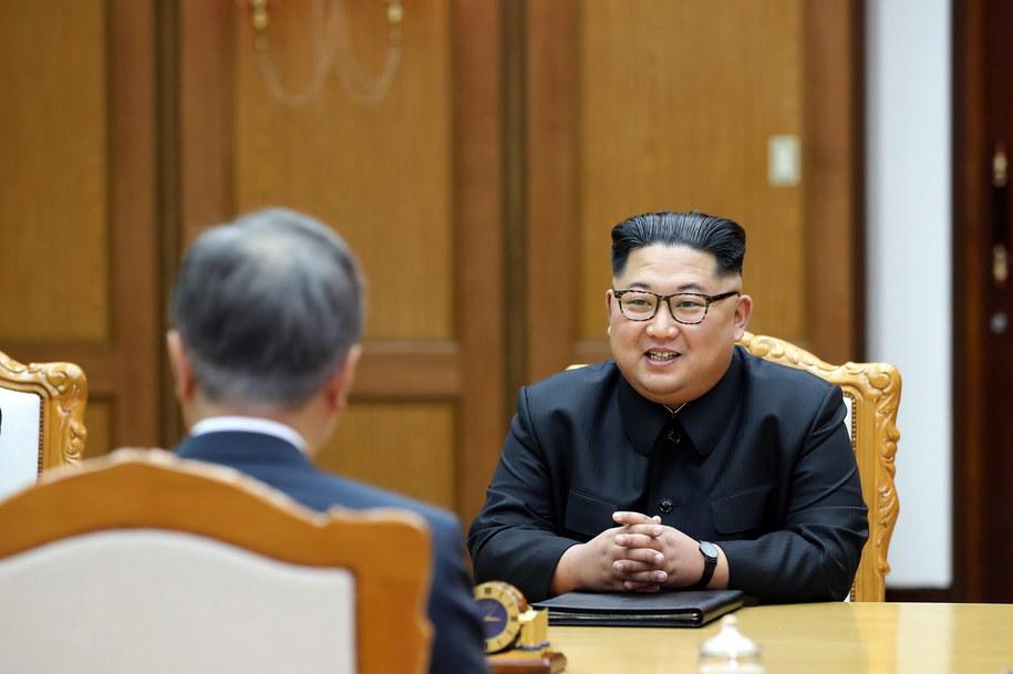Kim Dzong Un /CHEONG WA DAE HANDOUT HANDOUT /PAP/EPA