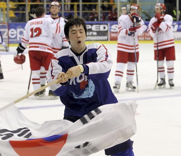 Kim hyung Joon cieszy się z awansu Korei Południowej/fot. Grzegorz Momot /PAP