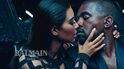 Kim i Kanye w reklamie Balmain