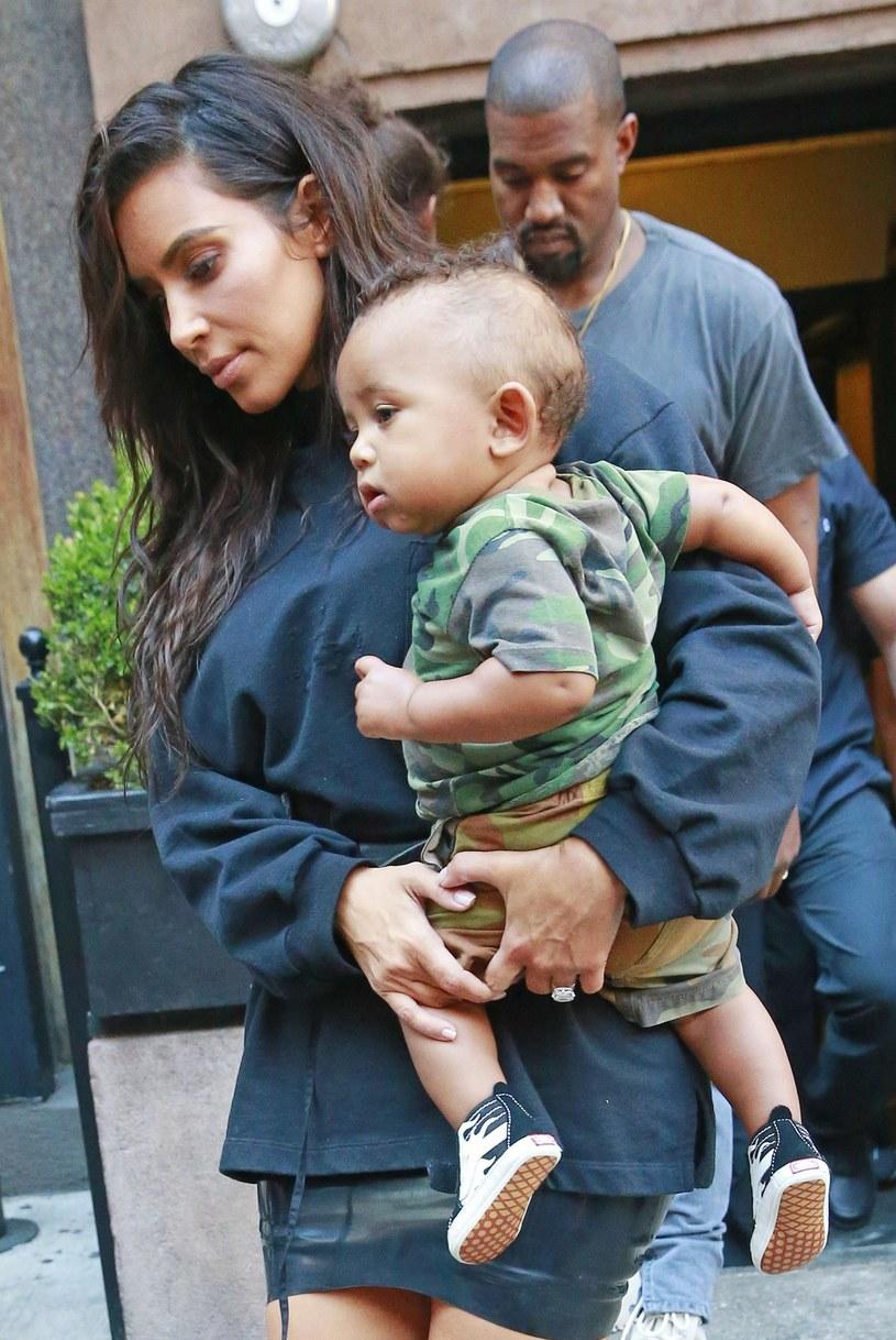 Kim i Kanye z synkiem /Splash News /East News