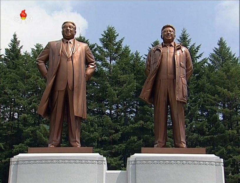 Kim Ir Sen i Kim Dzong Il - poprzednicy Kim Dzong Una /PAP/EPA