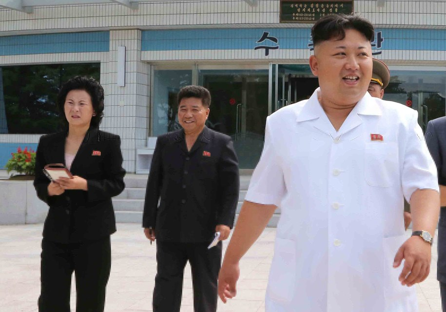 Kim Jo Dzong i Kim Dzong Un /KCNA /PAP/EPA