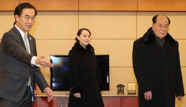 Kim Jo Dzong, siostra przywódcy Korei Północnej /PAP/EPA/YONHAP /PAP/EPA