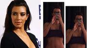 Kim Kardashian chwali się idealnie płaskim brzuchem