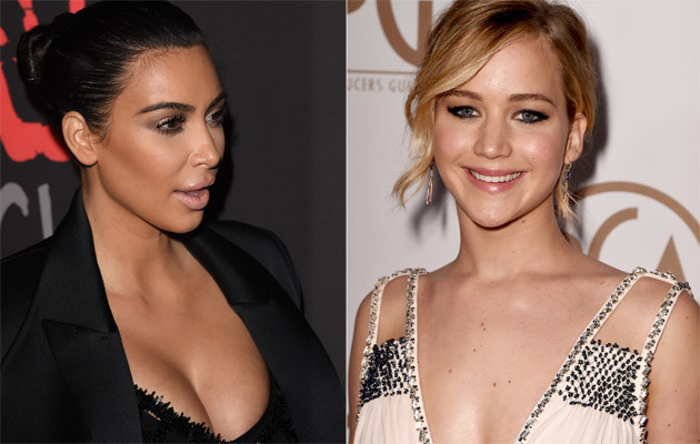 Kim Kardashian i Jennifer Lawrence /Jason Merritt, Kevin Winter /Getty Images