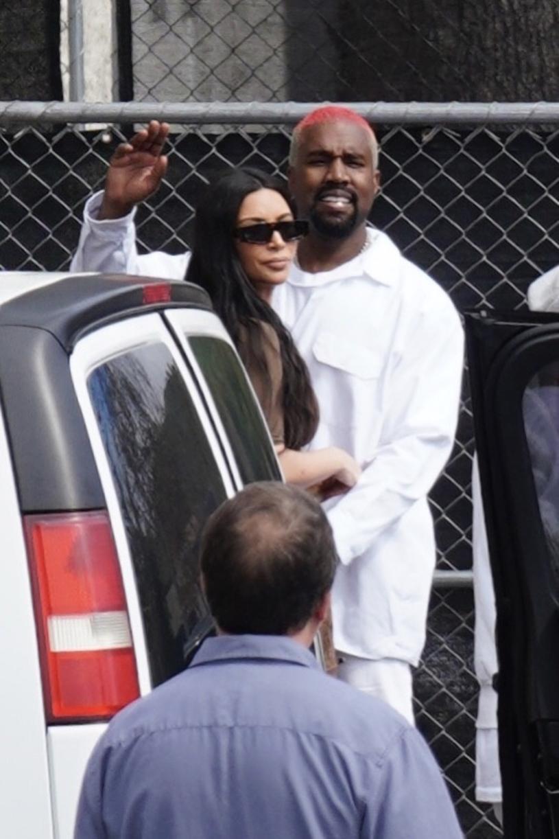 Kim Kardashian i Kanye West,  fot. Shotbyjuliann /Splashnews/Eastnews