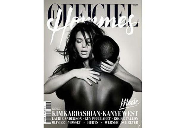 "Kim Kardashian i Kanye West na okładce ""L'Officiel Hommes"" /"